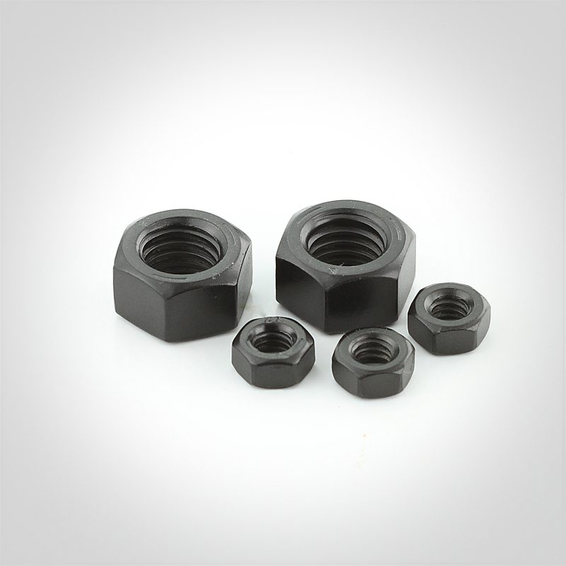 Black Luster® Grade 5 Steel Finished Hex Nuts