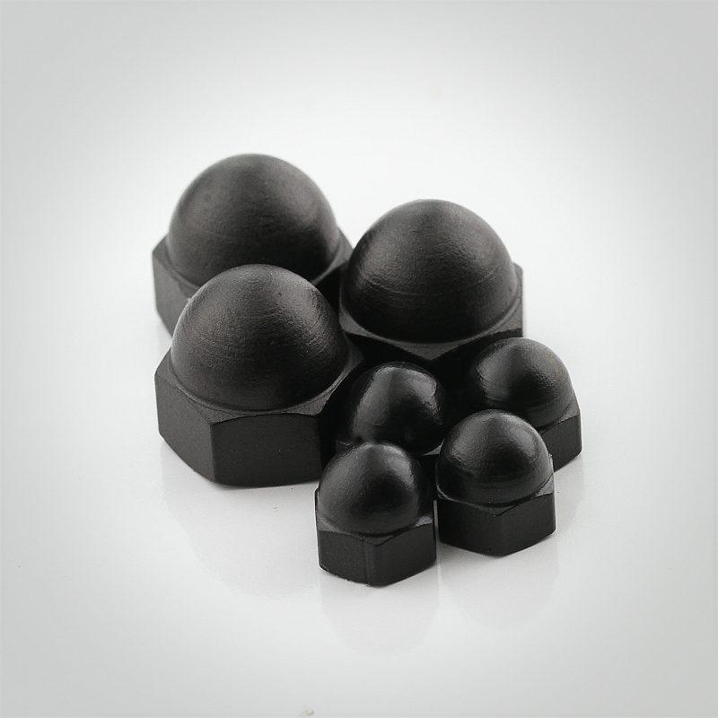 Black Luster® Steel Acorn Nuts