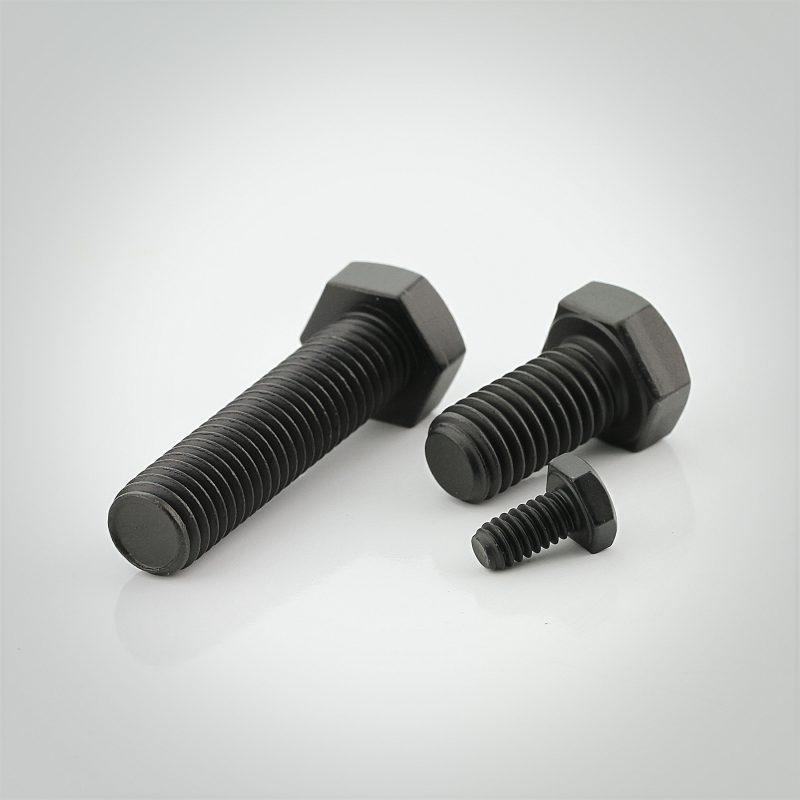 Black Luster® Steel Hex Head Tap Bolts